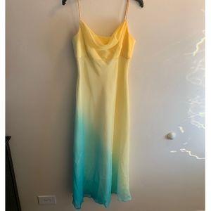 Dresses & Skirts - Long Yellow and Blue Ombre Style Prom Dress